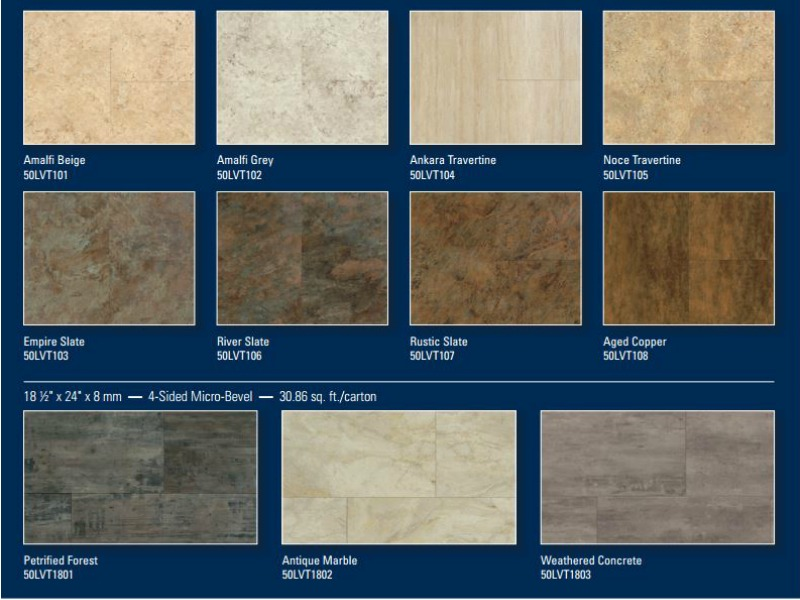 coretec plus tile options hilton head
